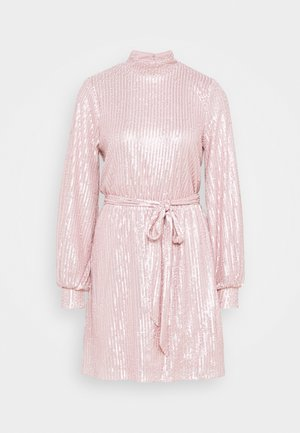 HIGH NECK SEQUIN DRESS - Juhlamekko - light pink