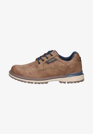Sznurowane obuwie sportowe - dunkelbraun