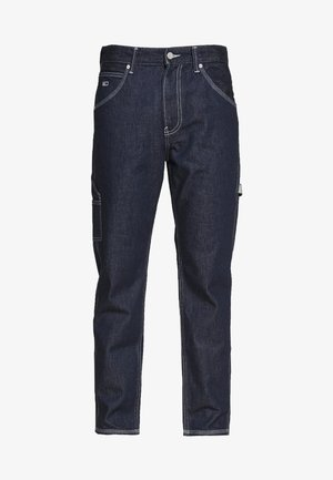 TAPERED CARPENTER - Vaqueros boyfriend - dark-blue denim