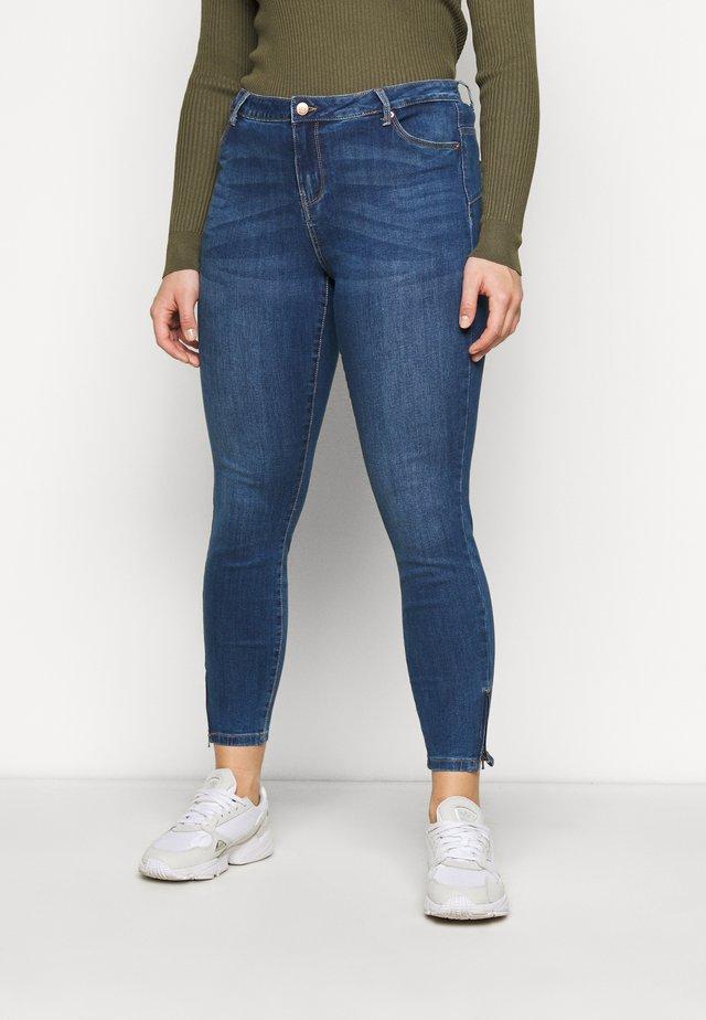 VMTILDE ZIP - Jeans slim fit - medium blue denim