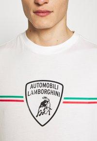 AUTOMOBILI LAMBORGHINI - T-shirt con stampa - avorio - 5