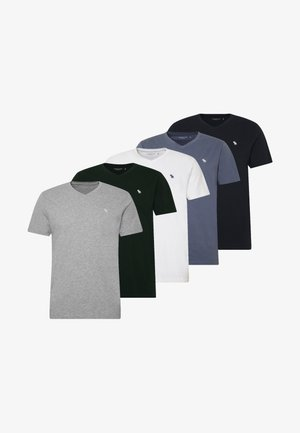 NEUTRAL 5 PACK - Basic T-shirt - navy/white/blue/green/grey
