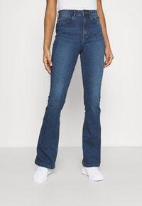 Noisy May - NMSALLIE - Flared jeans - medium blue denim - 0