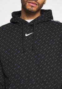 Nike Sportswear - REPEAT HOOD - Sweatshirt - black/white - 5