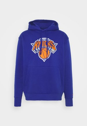 NBA NEW YORK KNICKS ESSENTIAL LOGO HOODIE - Fanartikel - rush blue