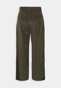 KnowledgeCotton Apparel - POSEY LOOSE HEAVY PANTS - Trousers - forrest night - 1