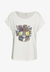 Cream - CARRIECR - T-shirt print - white - 0