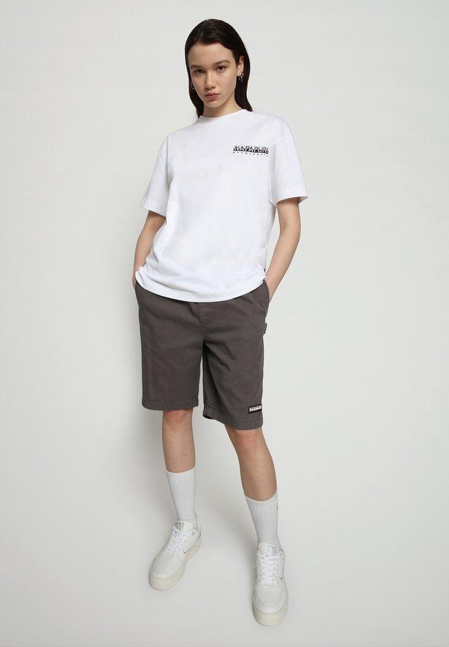 S JURASSIC - T-shirt med print - bright white