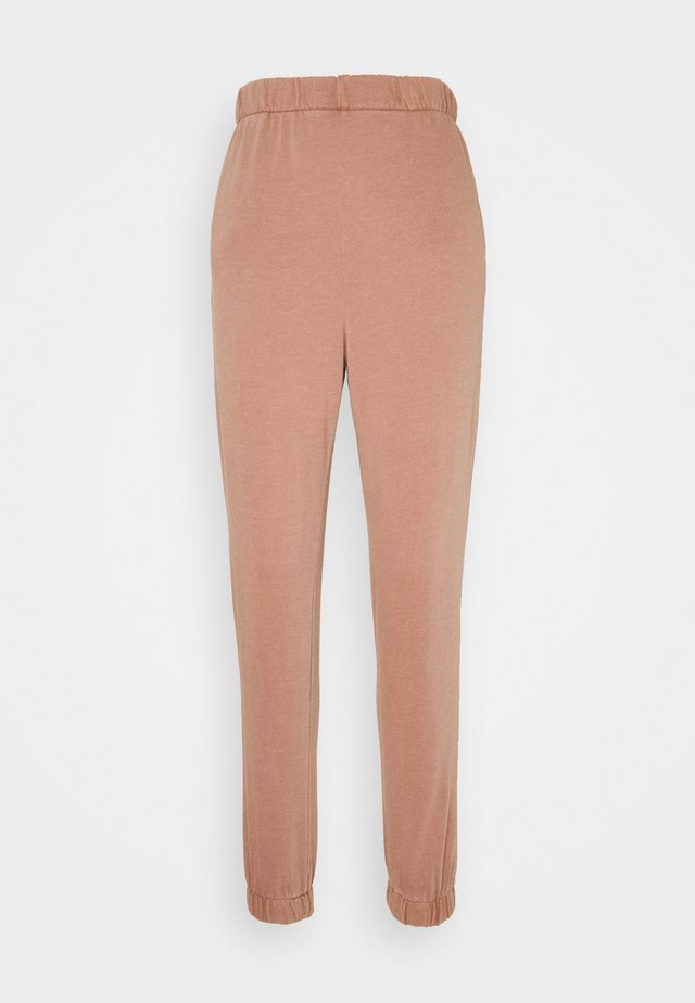 HIGHWAISTED TRACKPANT - Joggebukse - rust tan