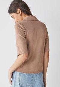 Next - Button-down blouse - tan - 1