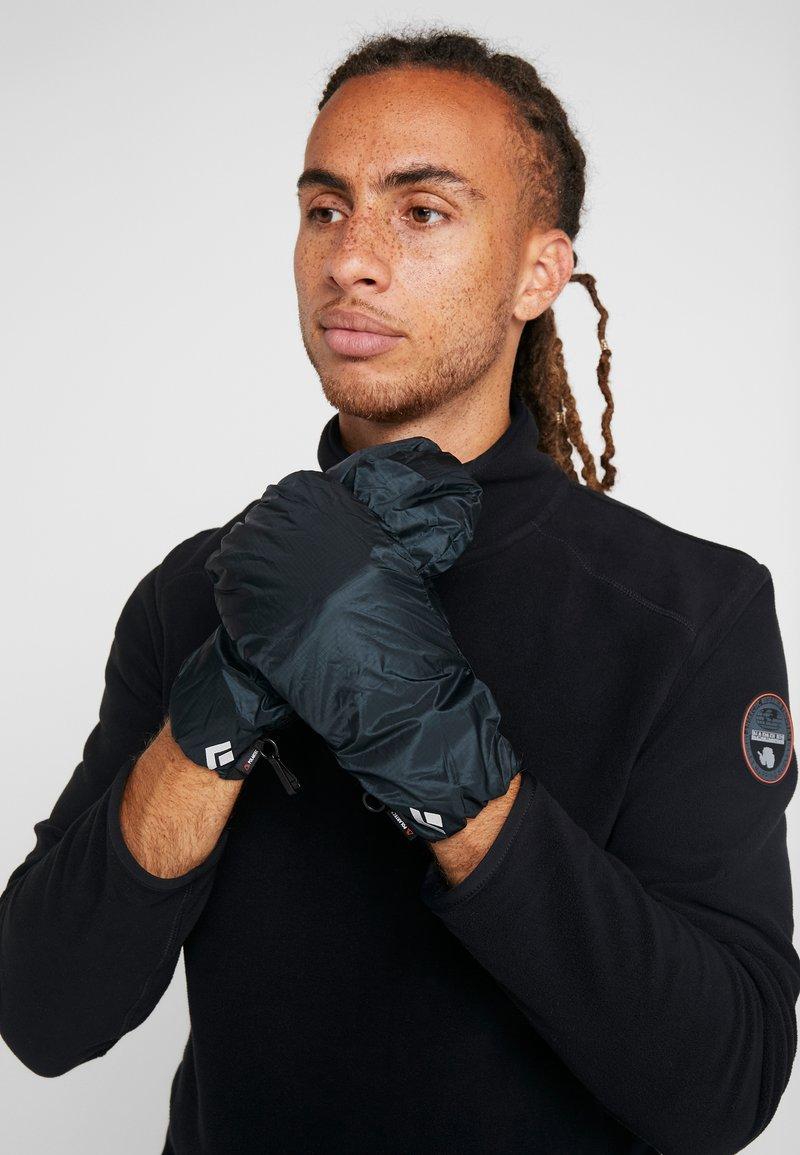 Black Diamond - WIND HOOD GRIDTECH GLOVES - Gloves - black
