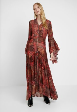 DRESS LONG FANCY SLEEVE - Maxi dress - red