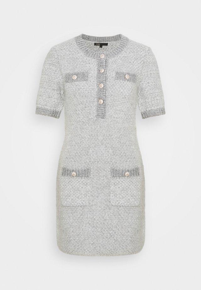RAVENO - Sukienka dzianinowa - gris
