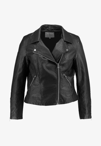 CAREMMY BIKER - Faux leather jacket - black