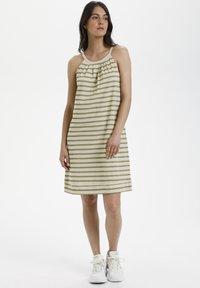 Lounge Nine - LNKYA  - Jersey dress - silver oat stripe - 1