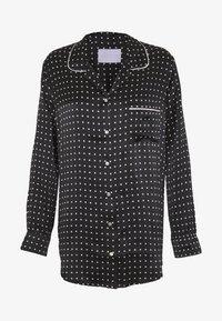 ASCENO - THE PARIS - Pyjamashirt - black square - 3