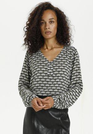 KABELLEN AMBER - Langærmede T-shirts - grape leaf  fan print