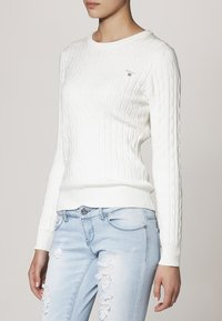 GANT - CABLE CREW - Jumper - off white - 2