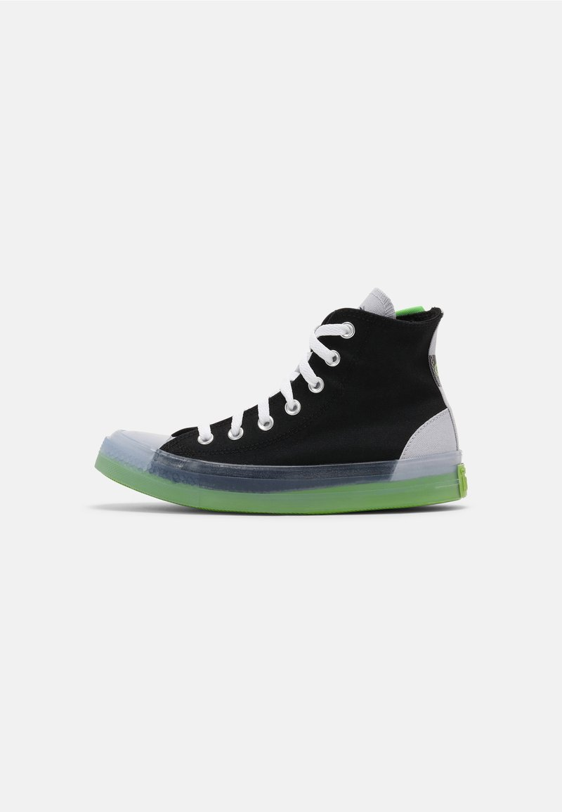 Converse - CHUCK TAYLOR ALL STAR COLORBLOCKED - High-top trainers - black/gravel/bold wasabi