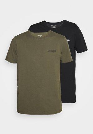 LOGO TEE 2 PACK - Jednoduché triko - dusty olive