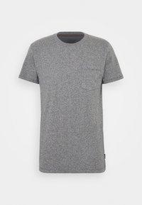 SLIM FIT - Basic T-shirt - navy