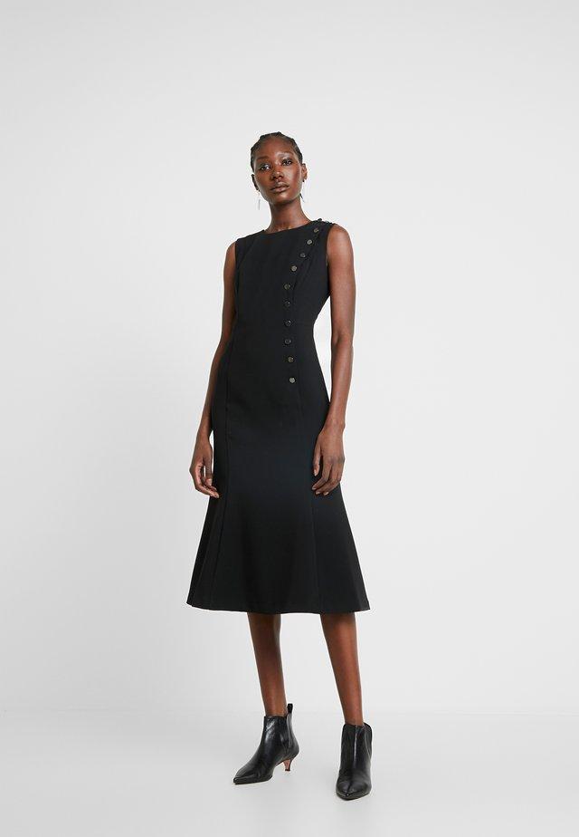 BUTTON DOWN MILITARY DRESS - Day dress - black