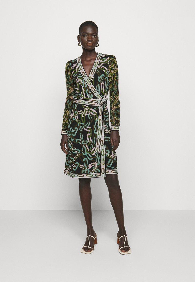 Diane von Furstenberg - GALA - Jersey dress - black/ivory