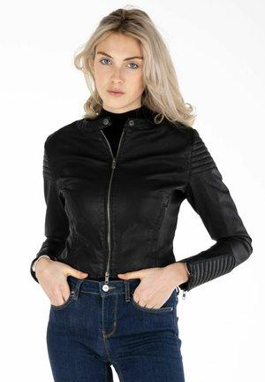 Faux leather jacket - black