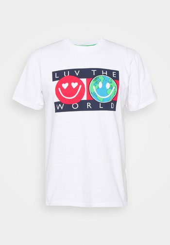 LUV THE WORLD TEE - Triko spotiskem - white
