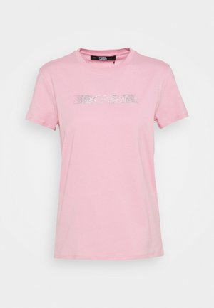 RHINESTONE LOGO  - Print T-shirt - pink
