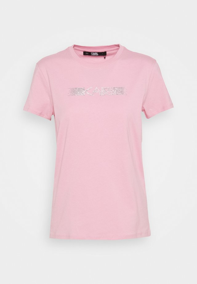RHINESTONE LOGO  - Triko spotiskem - pink
