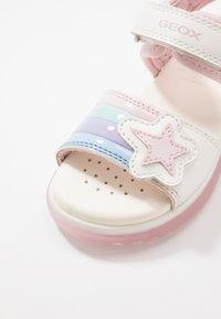 Geox - BLIKK GIRL - Sandals - white - 5