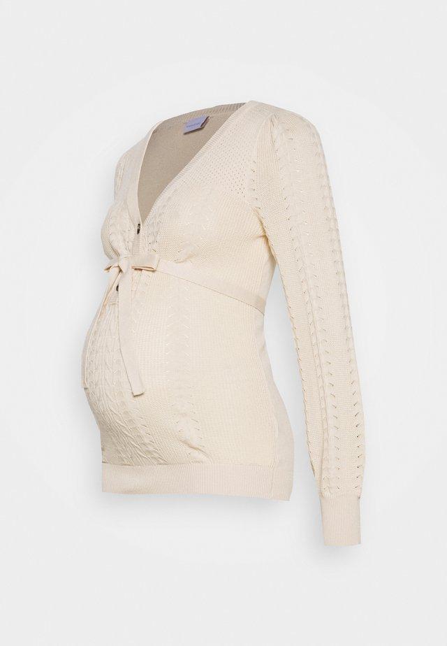 MLOVA LIA - Stickad tröja - parchment
