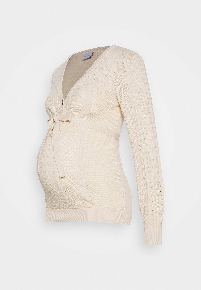 MAMALICIOUS - MLOVA LIA - Sweter - parchment