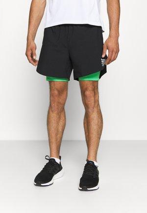 SHORT - Pantalón corto de deporte - black/semi screaming green