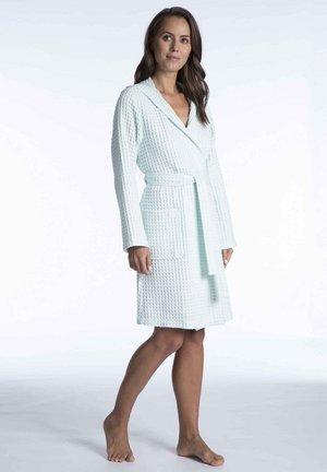 MIT KAPUZE - Dressing gown - light blue