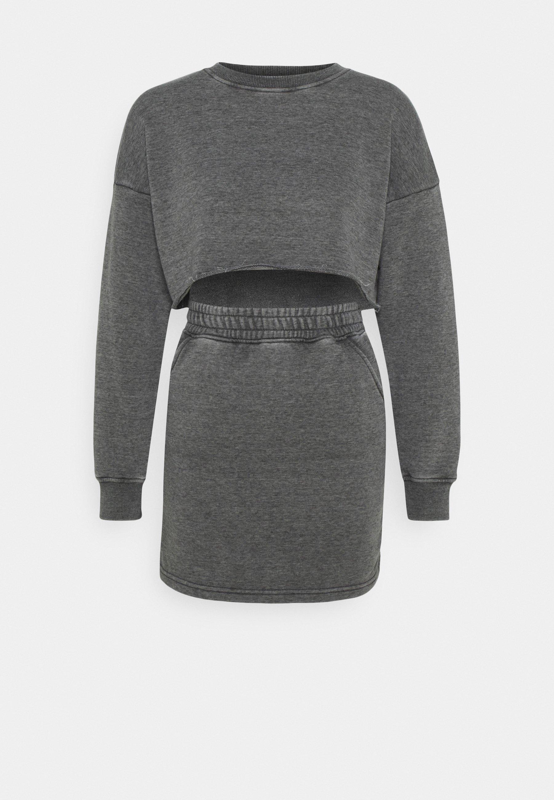 Femme WASHED LOOPBACK CROP SET - Sweatshirt
