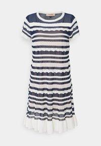 TWINSET - ABITO TRASPARENZE E BALZE - Jumper dress - neve/nero - 6