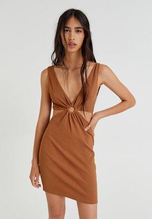 Denní šaty - mottled light brown