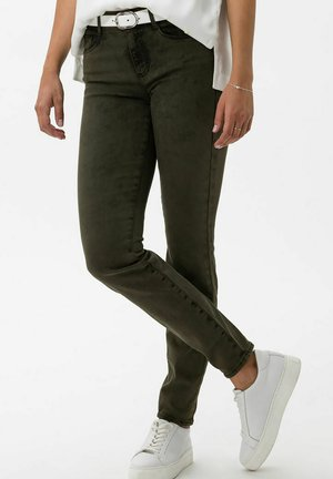 STYLE ANA - Slim fit jeans - dark olive overdyed