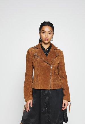 VICRIS S - Kožená bunda - oak brown