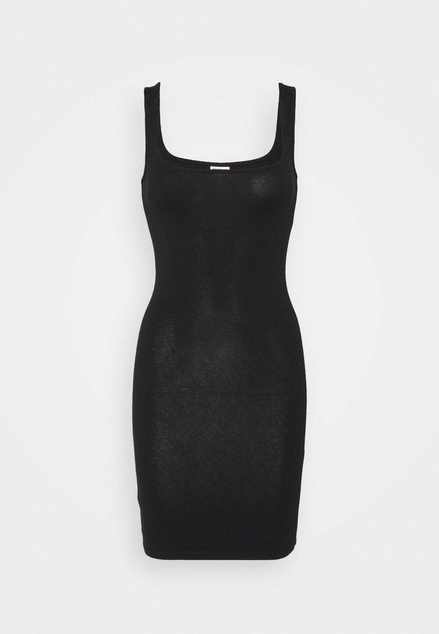 NMGENNIE DRESS  - Robe en jersey - black