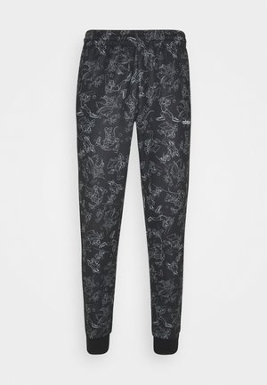 GOOFY - Tracksuit bottoms - black/white