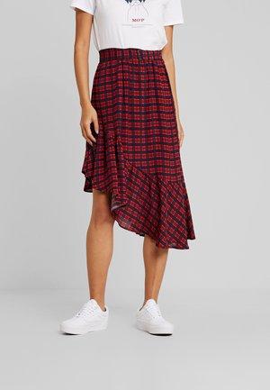 SKIRT DRAPY VOLANT STYLE BELT DET - A-line skirt - combo