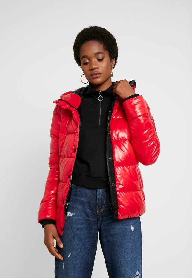 HIGH SHINE TOYA PUFFER - Winter jacket - red