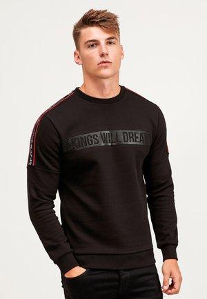 DAVIS - Sweatshirt - jet black/red