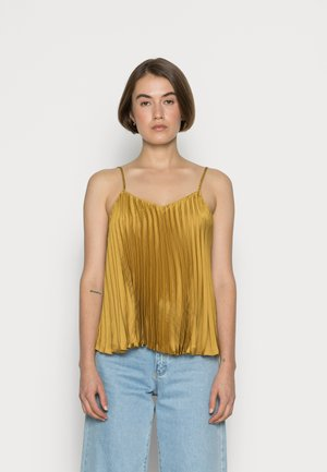 PLEATED CAMI - Tops - gold ochre