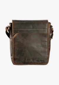 Greenburry - VINTAGE FLAPZIP - Across body bag - brown - 0