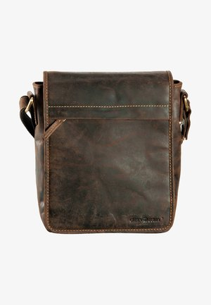 VINTAGE FLAPZIP - Across body bag - brown