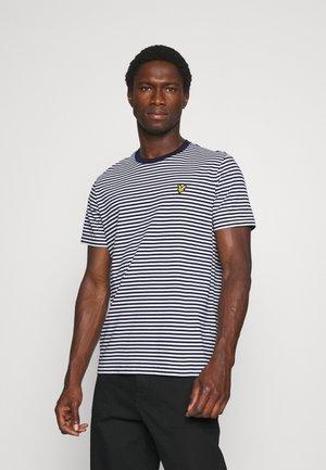 COLOUR STRIPE - T-shirt med print - navy